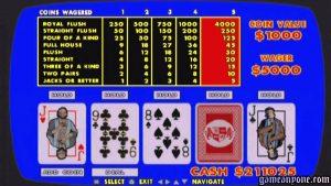 vdeo poker